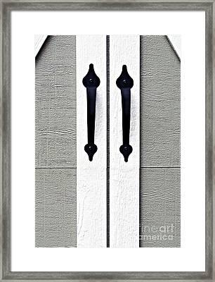 Shed Door Handles Framed Print