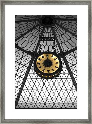 Shedd Aquarium Rotunda Sea Life Clock Framed Print