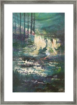 Sheen Falls Framed Print by Joyce Garvey
