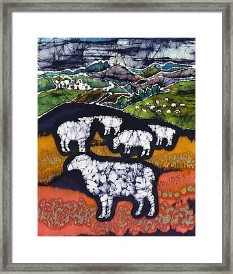 Sheep At Midnight Framed Print by Carol  Law Conklin