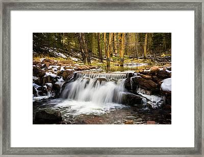 Sheep Creek Waterfall Framed Print by TL Mair
