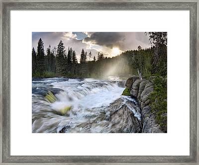 Sheep Falls Falls River Framed Print
