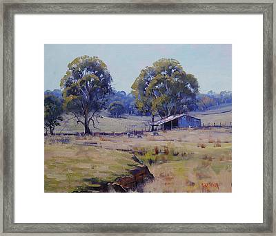 Sheep Farm Landscape Framed Print by Graham Gercken