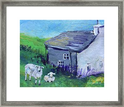 Framed Print featuring the painting Sheep In Scotland  by Claire Bull