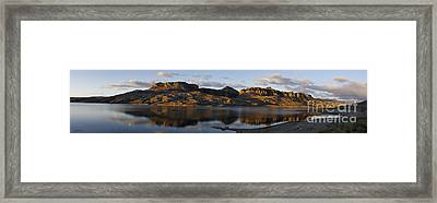 Sheep Mountain Sunrise - Panoramic-signed-12x55 Framed Print