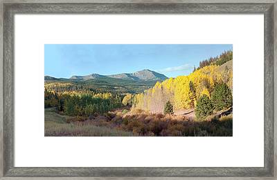 Framed Print featuring the photograph Sheep Mtn In Flat Tops by Daniel Hebard