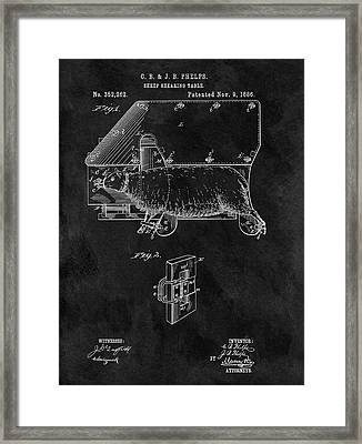 Sheep Shearing Table Patent Framed Print by Dan Sproul
