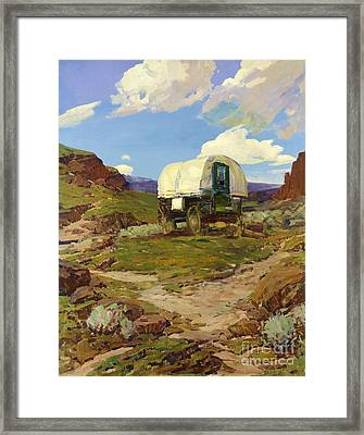Sheep Wagon Framed Print by Pg Reproductions
