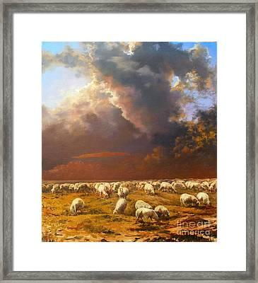 Sheep.alarm Framed Print by Andrey Soldatenko