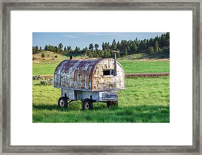 Sheepherder's Wagon Framed Print by Todd Klassy