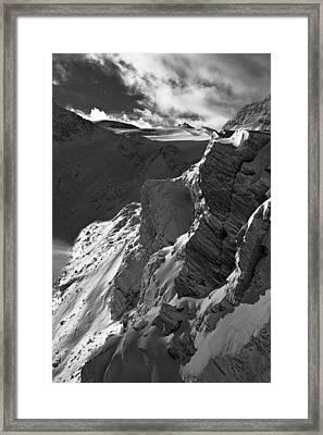 Sheer Alps Framed Print