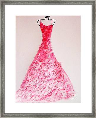 Sheer Twirls In Pink Framed Print