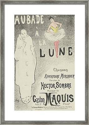 Sheet Music Aubade A La Lune Framed Print by MotionAge Designs