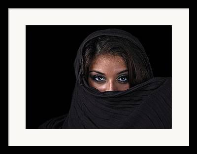 Beautiful Hijabs Framed Prints