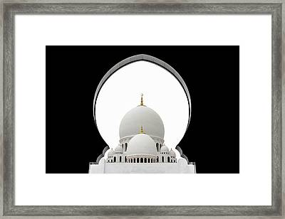Sheikh Zayed Mosque Dome Framed Print