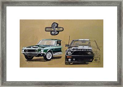 Shelby 40th Anniversary Framed Print