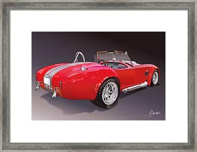 Shelby Cobra Framed Print by Alain Jamar