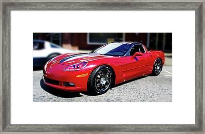 Shelby Corvette Framed Print