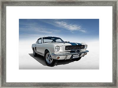 Framed Print featuring the digital art Shelby Mustang Gt350 by Douglas Pittman