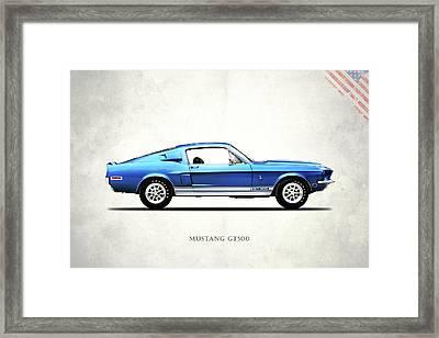 Shelby Mustang Gt500 1968 Framed Print by Mark Rogan
