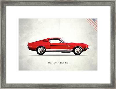 Shelby Mustang Gt500 Kr 1968 Framed Print