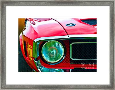 Red Shelby Mustang Framed Print