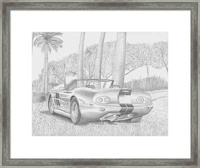 Shelby Series 1 Sports Car Art Print Framed Print