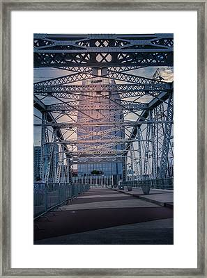 Shelby Street Bridge Framed Print by Art Spectrum
