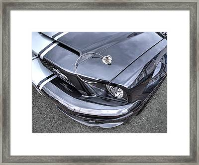 Shelby Super Snake At The Ace Cafe London Framed Print