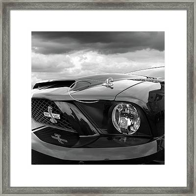 Framed Print featuring the photograph Shelby Super Snake Mustang Grille And Headlight by Gill Billington