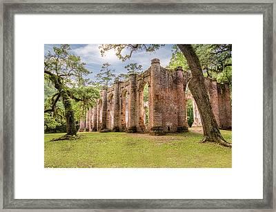Sheldon Church Ruins Framed Print by Drew Castelhano
