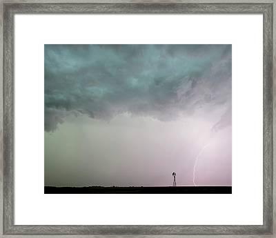 Shelf Cloud And Windmill -05 Framed Print