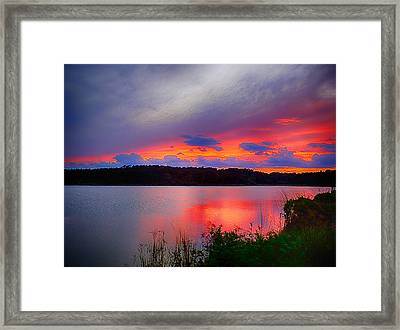 Framed Print featuring the photograph Shelf Cloud At Sunset by Bill Barber