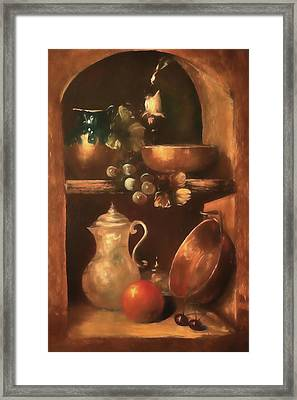 Framed Print featuring the photograph Shelf Life 2 by Donna Kennedy