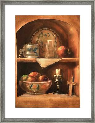 Framed Print featuring the photograph Shelf Life by Donna Kennedy