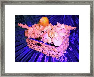 Shell Box Framed Print by Arlin Jules