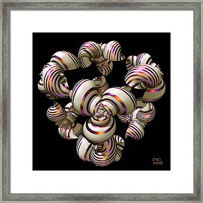 Shell Convergence Framed Print
