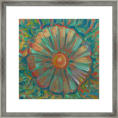 Framed Print featuring the painting Shell Flower by John Keaton