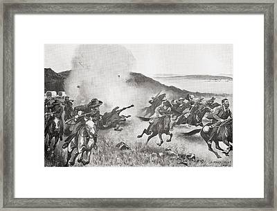 Shell From The Naval Brigade Dispersing Framed Print by Vintage Design Pics