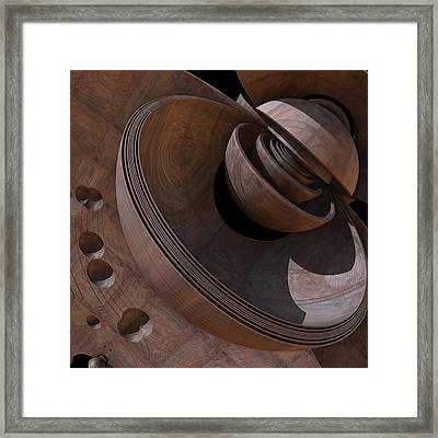 Framed Print featuring the digital art Shell Game by Lyle Hatch