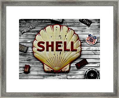 Shell Gas Framed Print