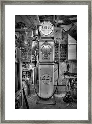 Shell Gas Pump Framed Print