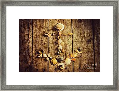 Shell N Anchor Framed Print by Jorgo Photography - Wall Art Gallery