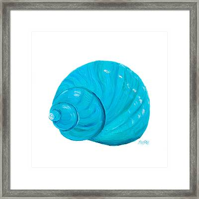 Shell Painting - Bathroom Art Framed Print by Jan Matson