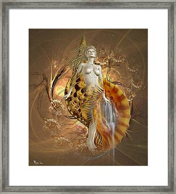 Golden Shell Serpent Framed Print