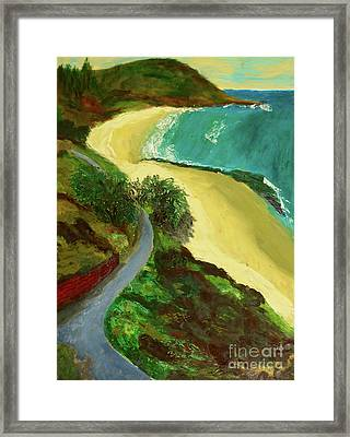 Framed Print featuring the painting Shelly Beach by Paul McKey