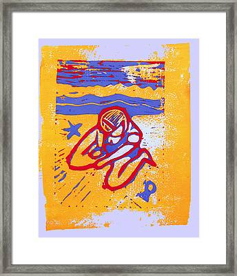 Shellie - Summer Experiment Framed Print by Adam Kissel