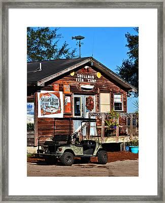 Shellman Fish Camp Framed Print by Laura Ragland