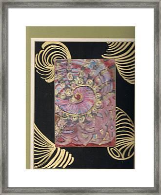 Shells And Golden Rings Framed Print by Anne-Elizabeth Whiteway