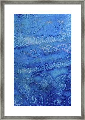 Framed Print featuring the painting Shells Galore by Mary Sullivan